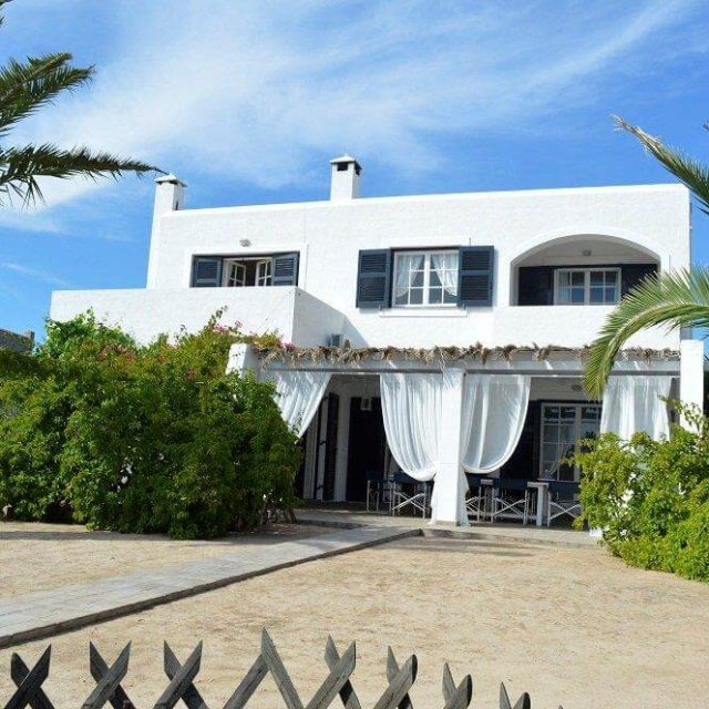 Villa Light Ground Floor Vrocheia Aegina - Front view of the house
