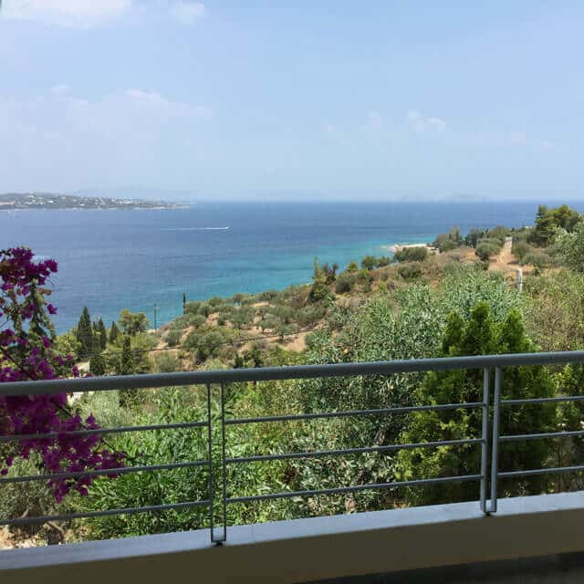Lovely flat with amazing view located in Spetses_Sea View from Balcony